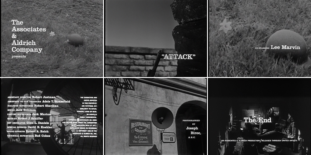 Attack 1956 title sequence