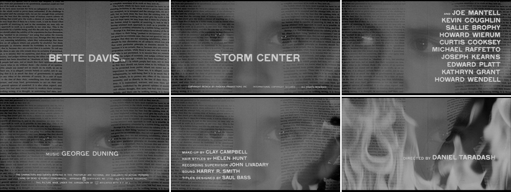 Storm center 1956 title sequence