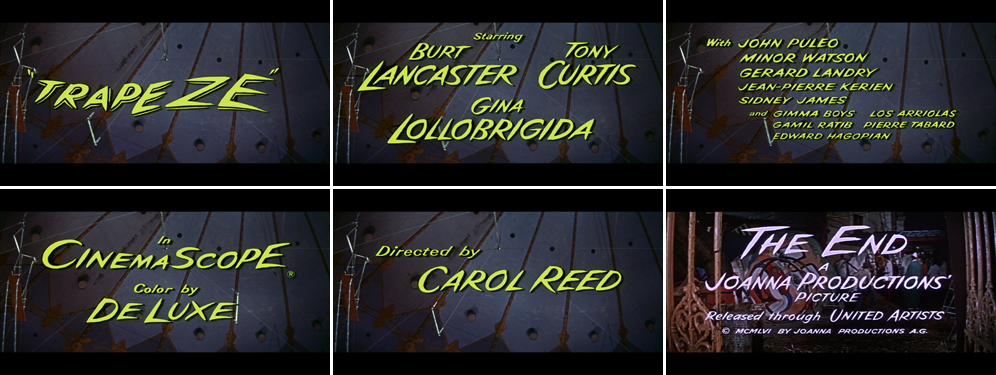 Trapeze 1956 title sequence