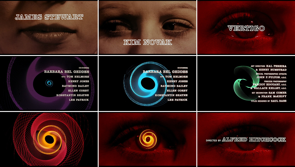 Saul Bass Vertigo 1958 title sequence