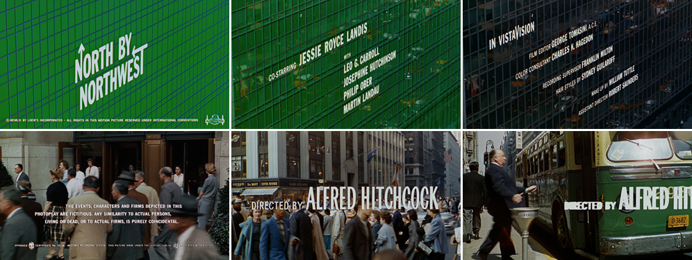 Saul Bass North by Northwest 1959 title sequence