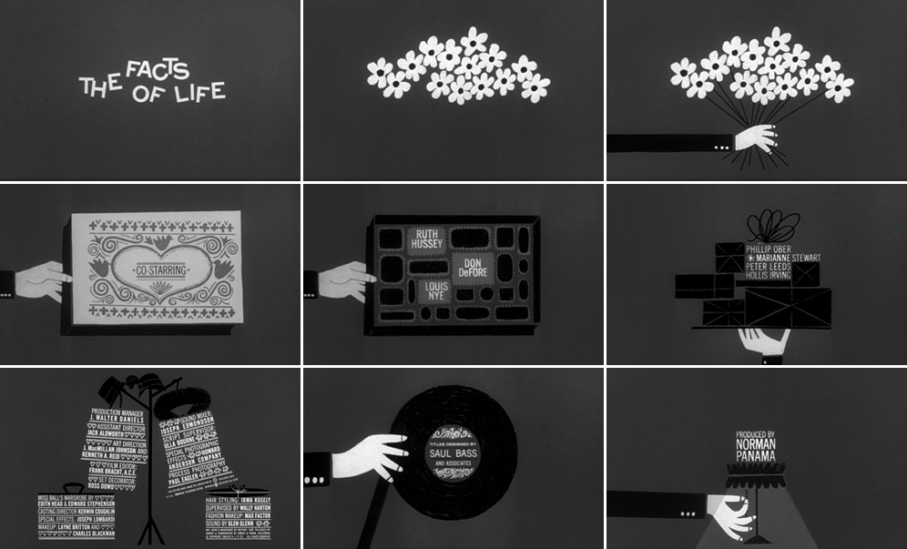 Saul Bass The facts of life 1960 title sequence