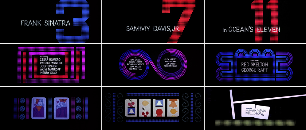 Saul Bass Ocean's eleven 1960 title sequence