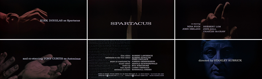 Saul Bass Spartacus 1960 title sequence