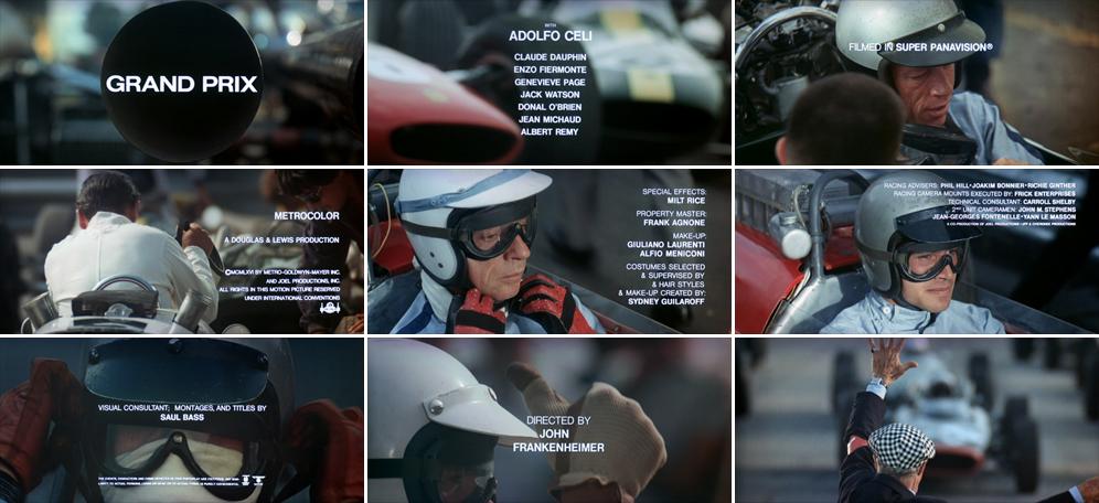 Saul Bass Grand Prix 1966 title sequence