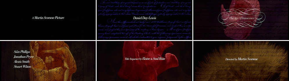 Saul Bass The Age of Innocence 1993 title sequence