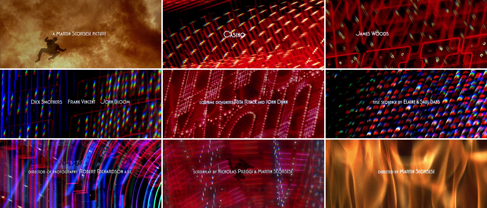 Saul Bass Casino 1995 title sequence