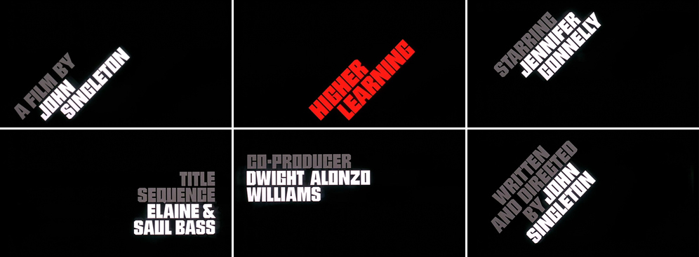 Saul Bass Higher learning 1995 title sequence