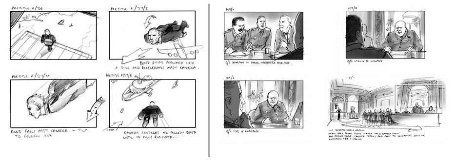 Visual Storyboard A Freelance Artist Was Hired To Develop The