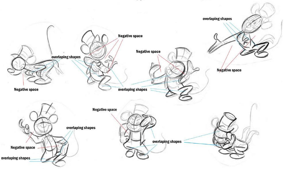 迪士尼人物线条画